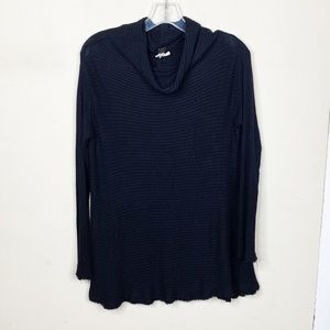 We the Free Black Long Sleeve Mock Neck Top Small